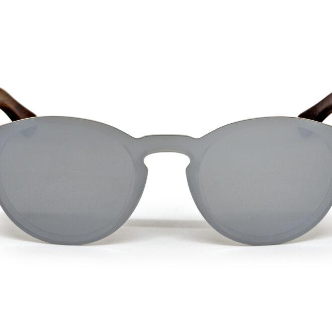 round ebony wood sunglasses
