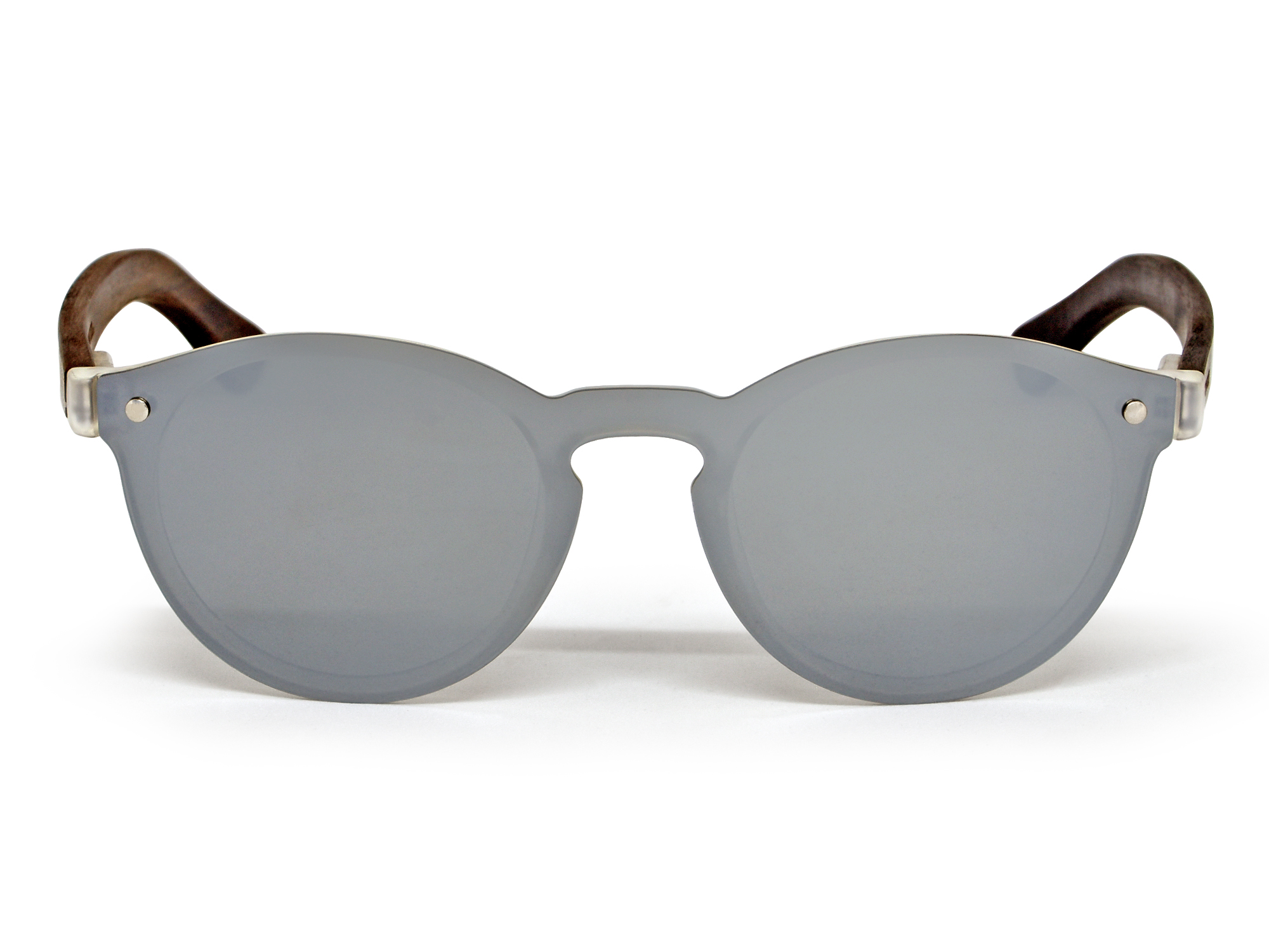 round ebony wood sunglasses