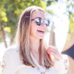Round ebony wood sunglasses model