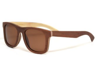 Maple wood sunglasses with brown polarized lenses