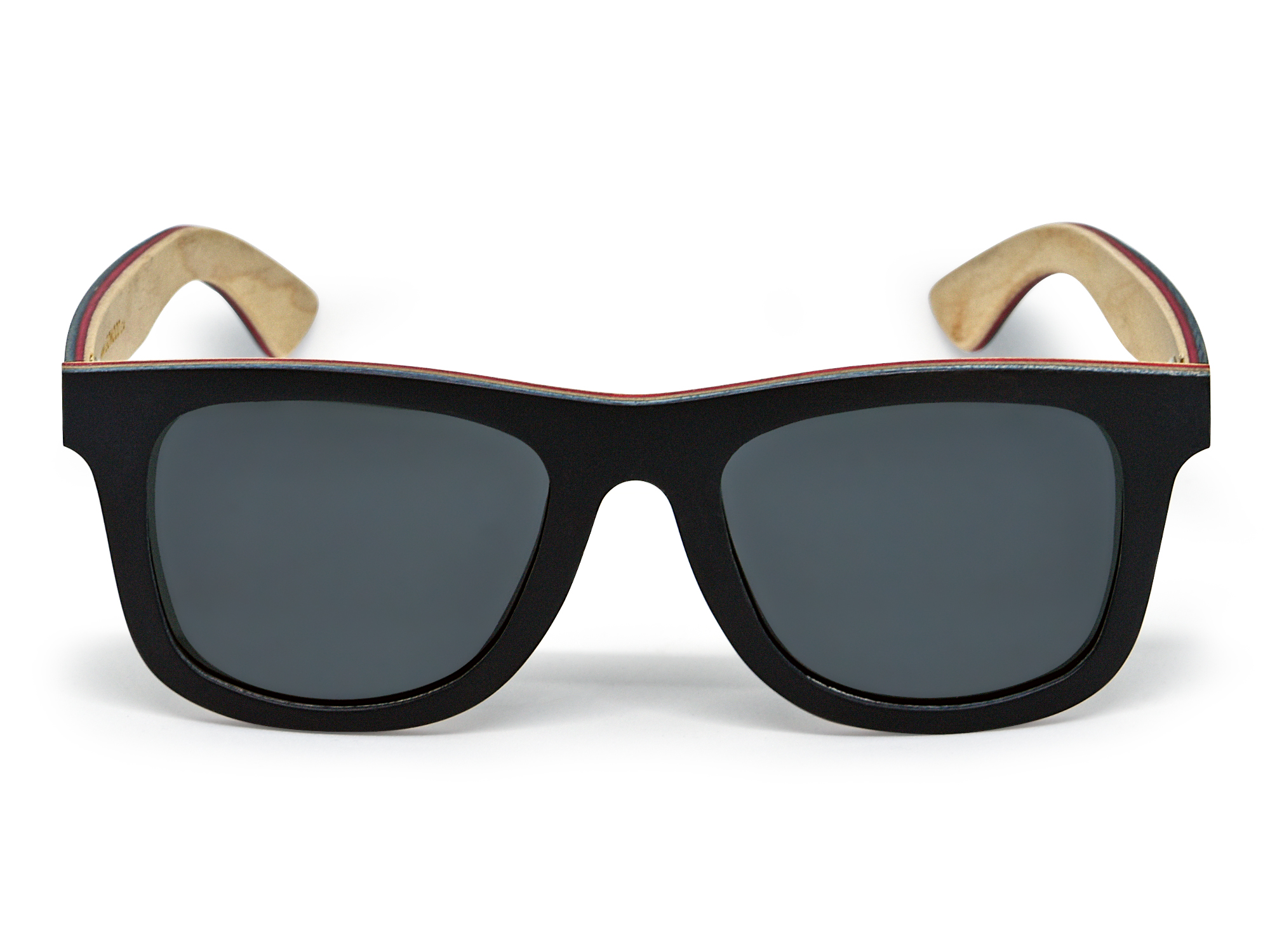black skateboard wood sunglasses