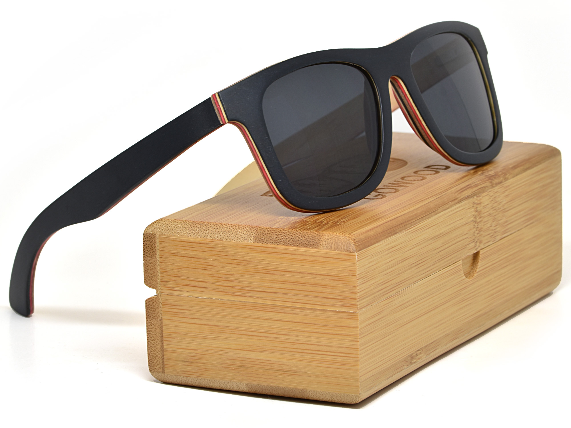 Black maple wood sunglasses