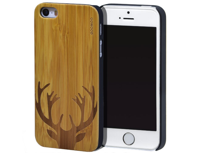 iPhone 5 wood case bamboo deer
