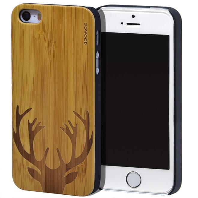 iPhone 5 wood case bamboo deer