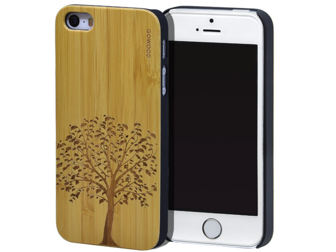 iPhone 5 wood case bamboo tree