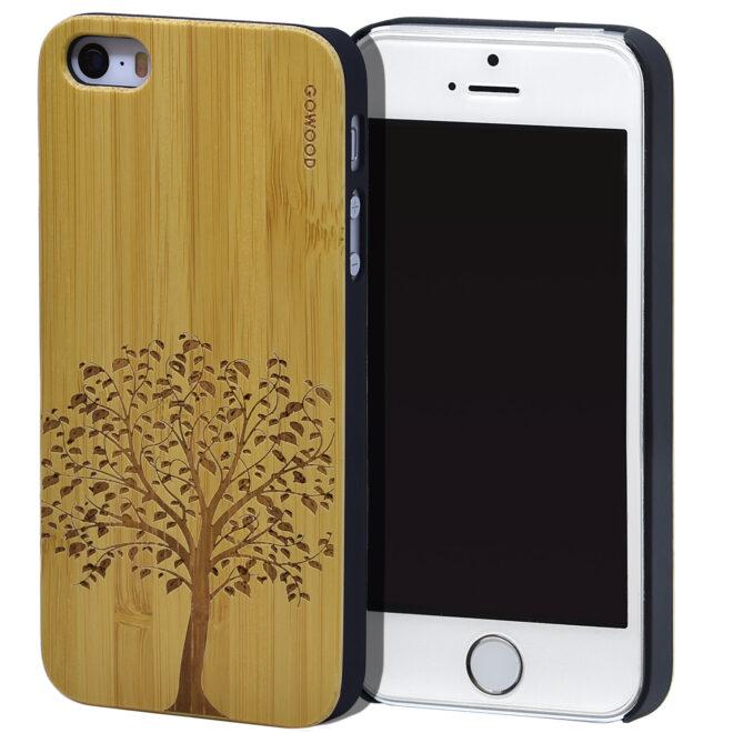 iPhone 5 wood case bamboo tree