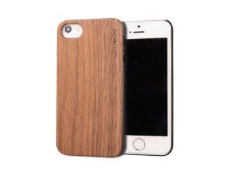 iPhone 5 walnut wood case