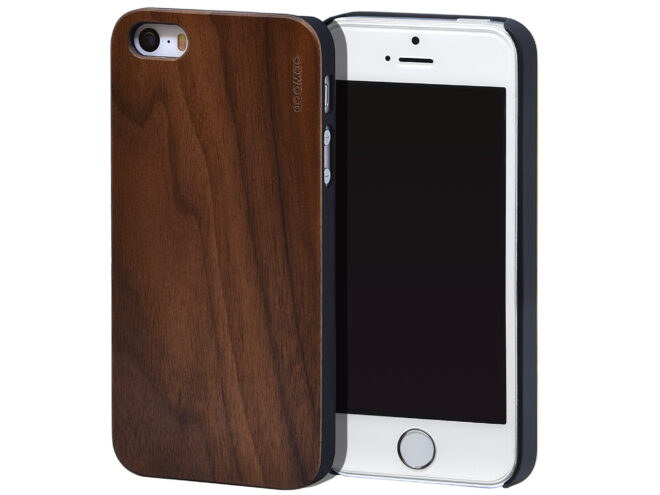 iPhone 5 wood case walnut