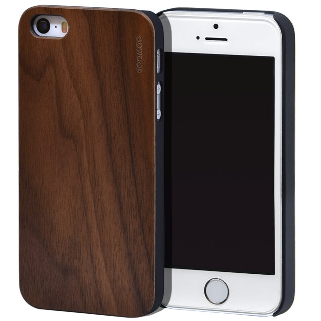 iPhone 5 wood case walnut