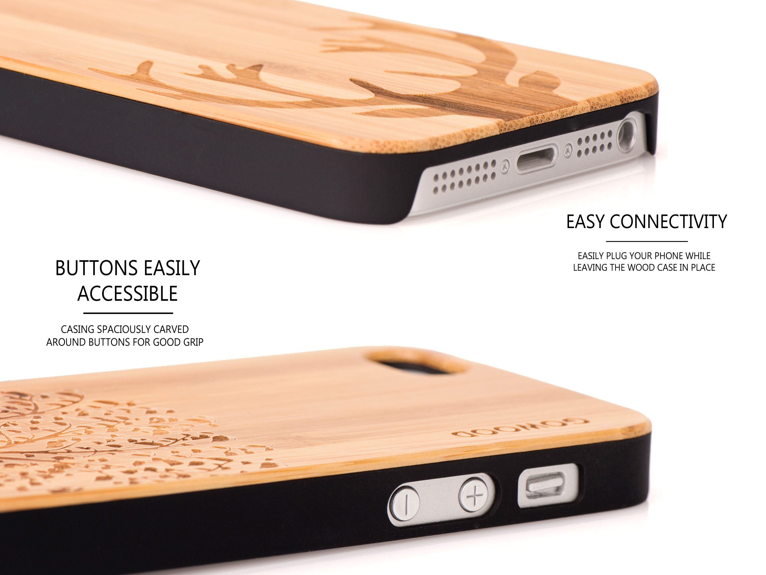 iPhone5 wood case buttons