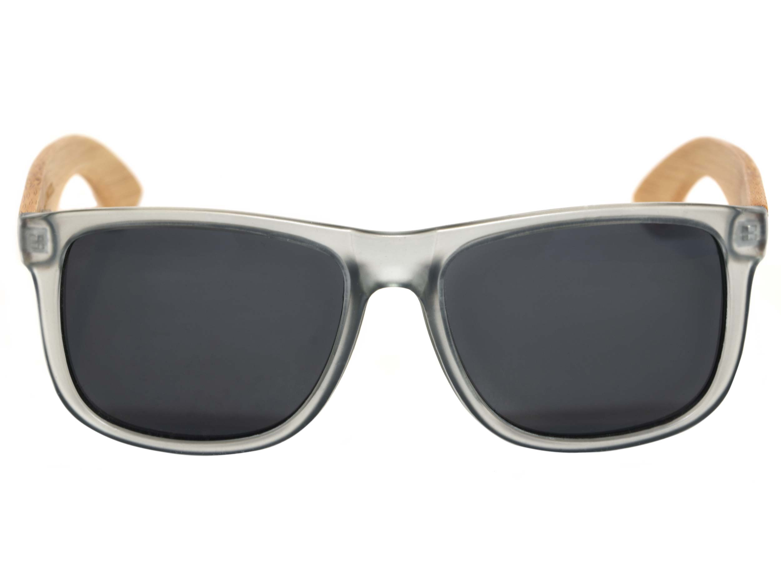 Square bamboo wood sunglasses