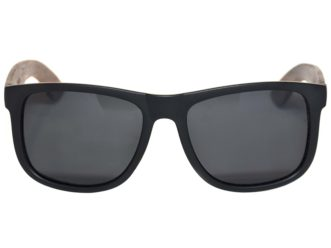 Square walnut wood sunglasses