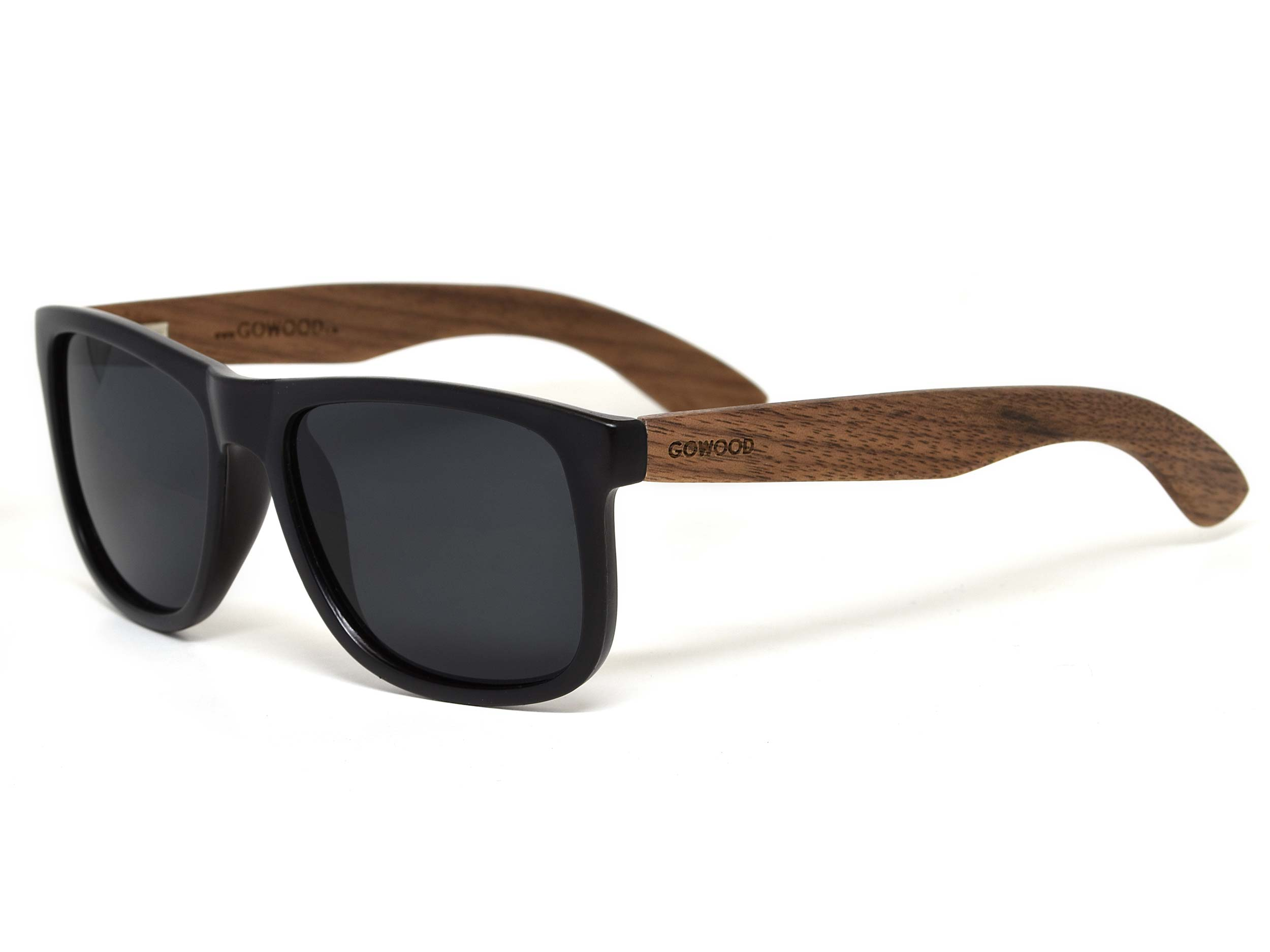 30d10aa2c1 Square walnut wood sunglasses