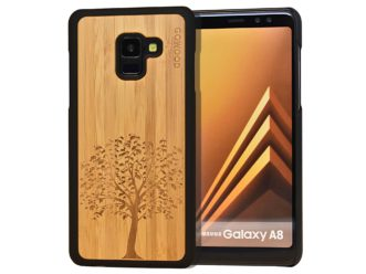 Samsung Galaxy A8 wood case tree front