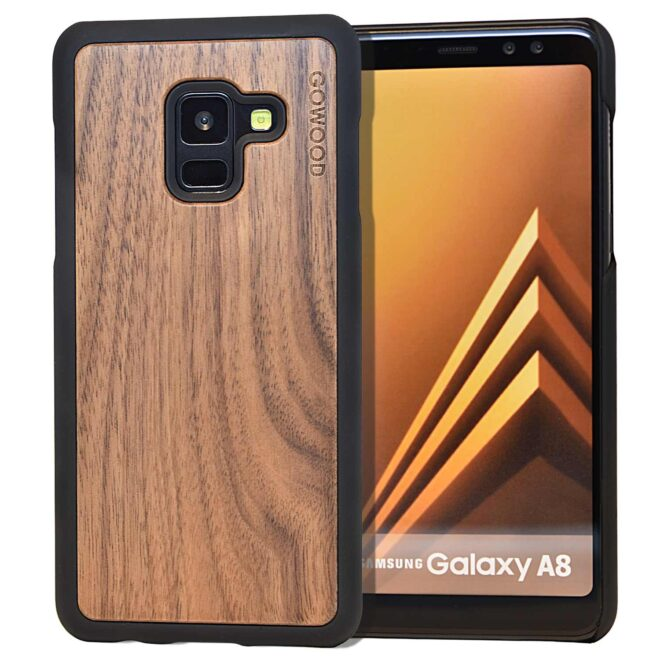 Samsung Galaxy A8 wood case walnut front