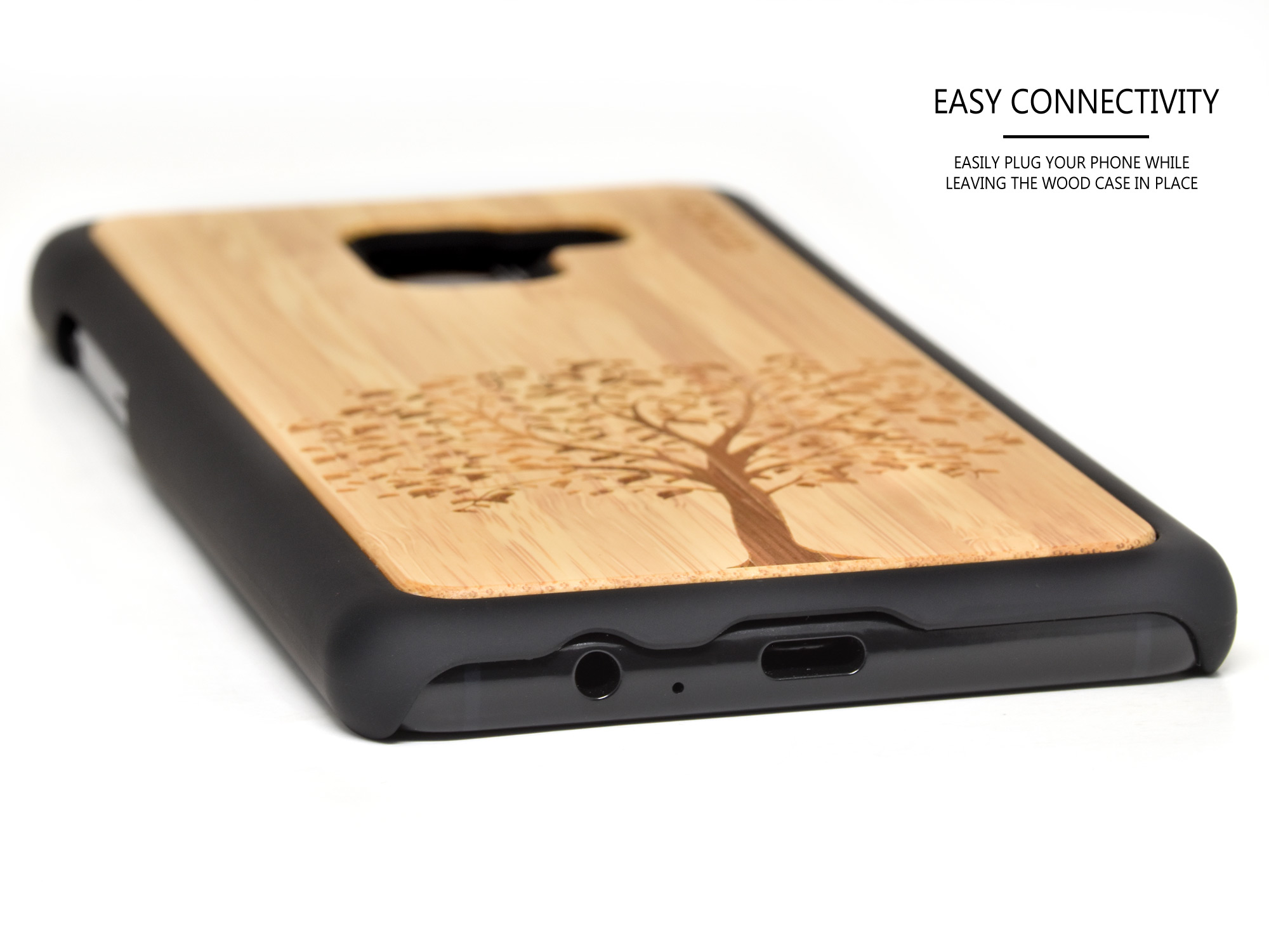 Samsung Galaxy A8 wood case bamboo tree