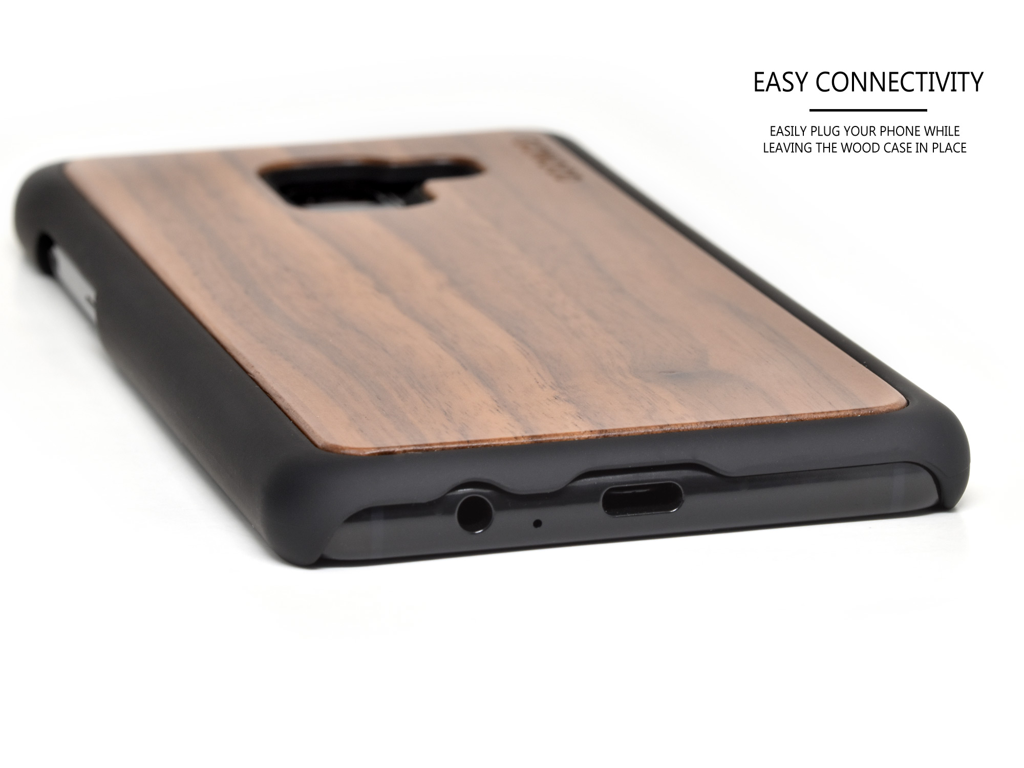Samsung Galaxy A8 wood case walnut