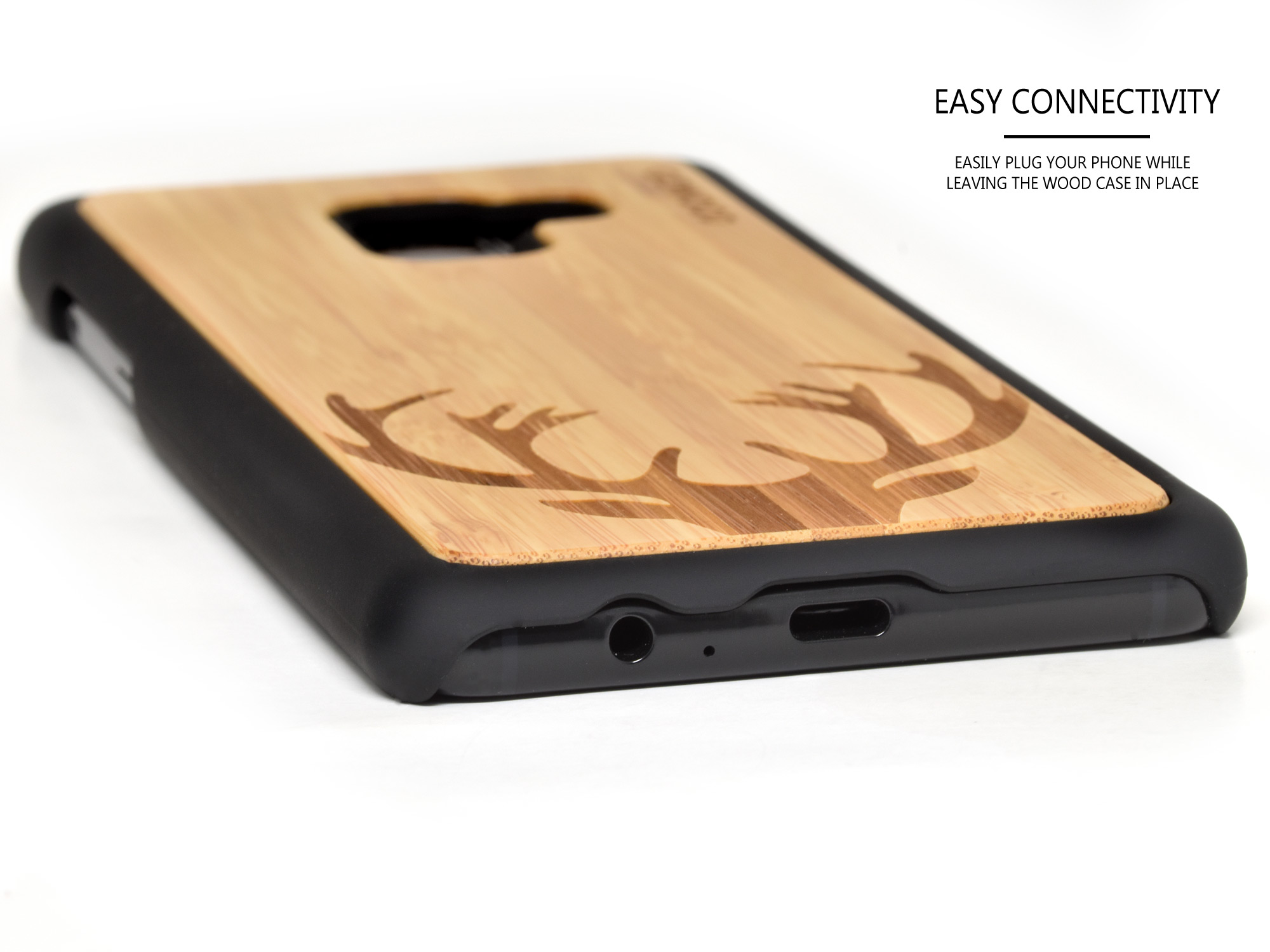 Samsung Galaxy A8 Plus wood case bamboo deer