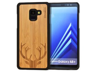Samsung Galaxy A8 Plus wood case deer front