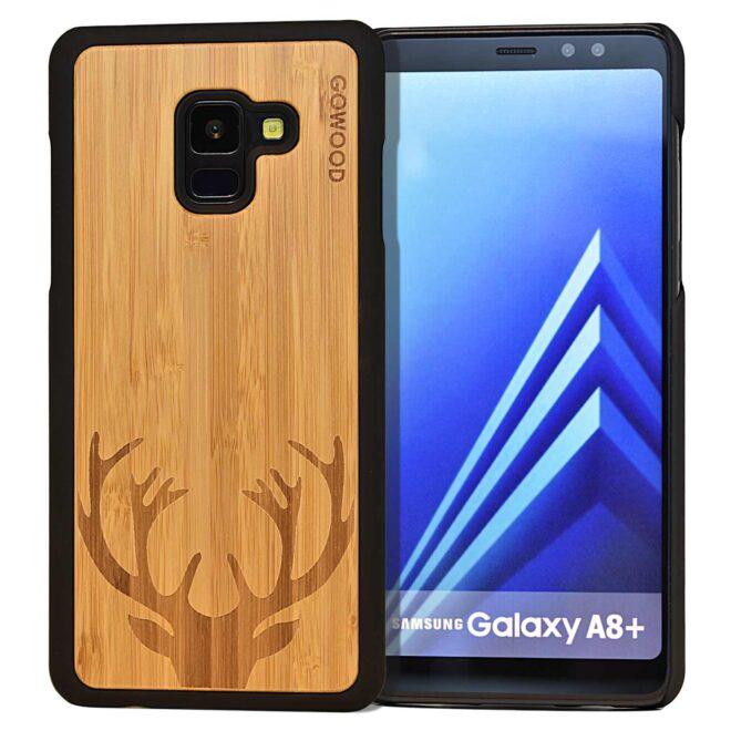 Samsung Galaxy A8 Plus wood case deer front