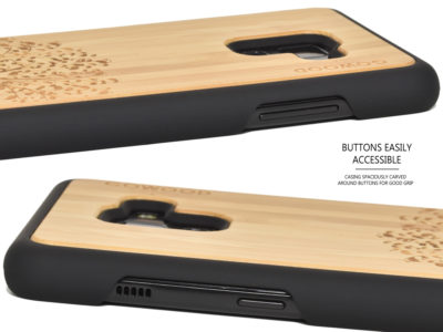 Samsung Galaxy A8 Plus wood case bamboo tree