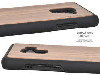 Samsung Galaxy A8 Plus wood case walnut