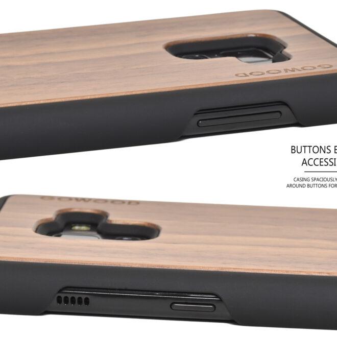 Samsung Galaxy A8 Plus wood case walnut