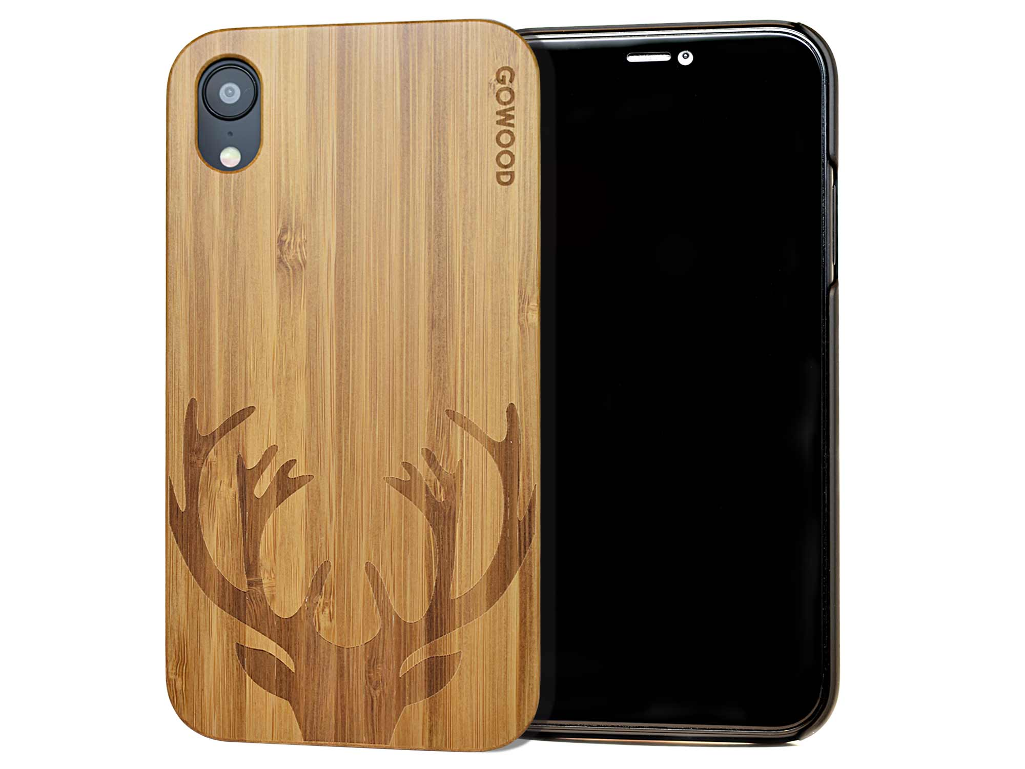 Iphone Xr Wood Case Iphone Xr Case Bamboo Deer Gw