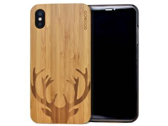iPhone XS Max wood case deer front