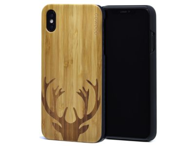 iPhone XS Max wood case bamboo deer