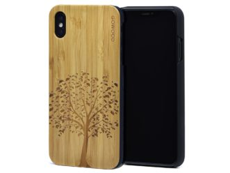 iPhone XS Max wood case bamboo tree