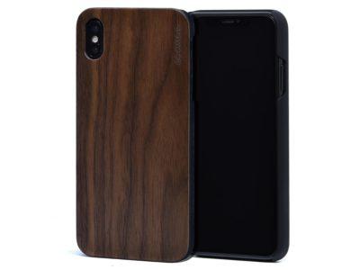 iPhone XS Max wood case walnut