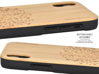 iPhone XR wood case bamboo tree