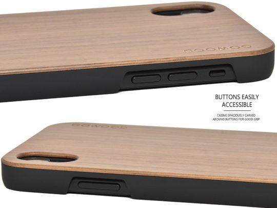 iPhone XR wood case walnut