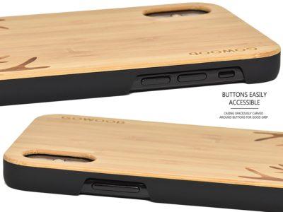 iPhone XS MAX wood case bamboo deer