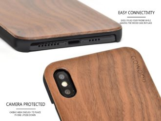 iPhone XS MAX wood case walnut