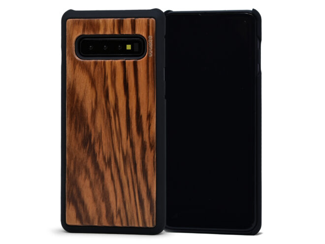 Samsung Galaxy S10 wood case zebra