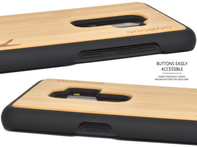 Samsung Galaxy S9 Plus wood case bamboo deer