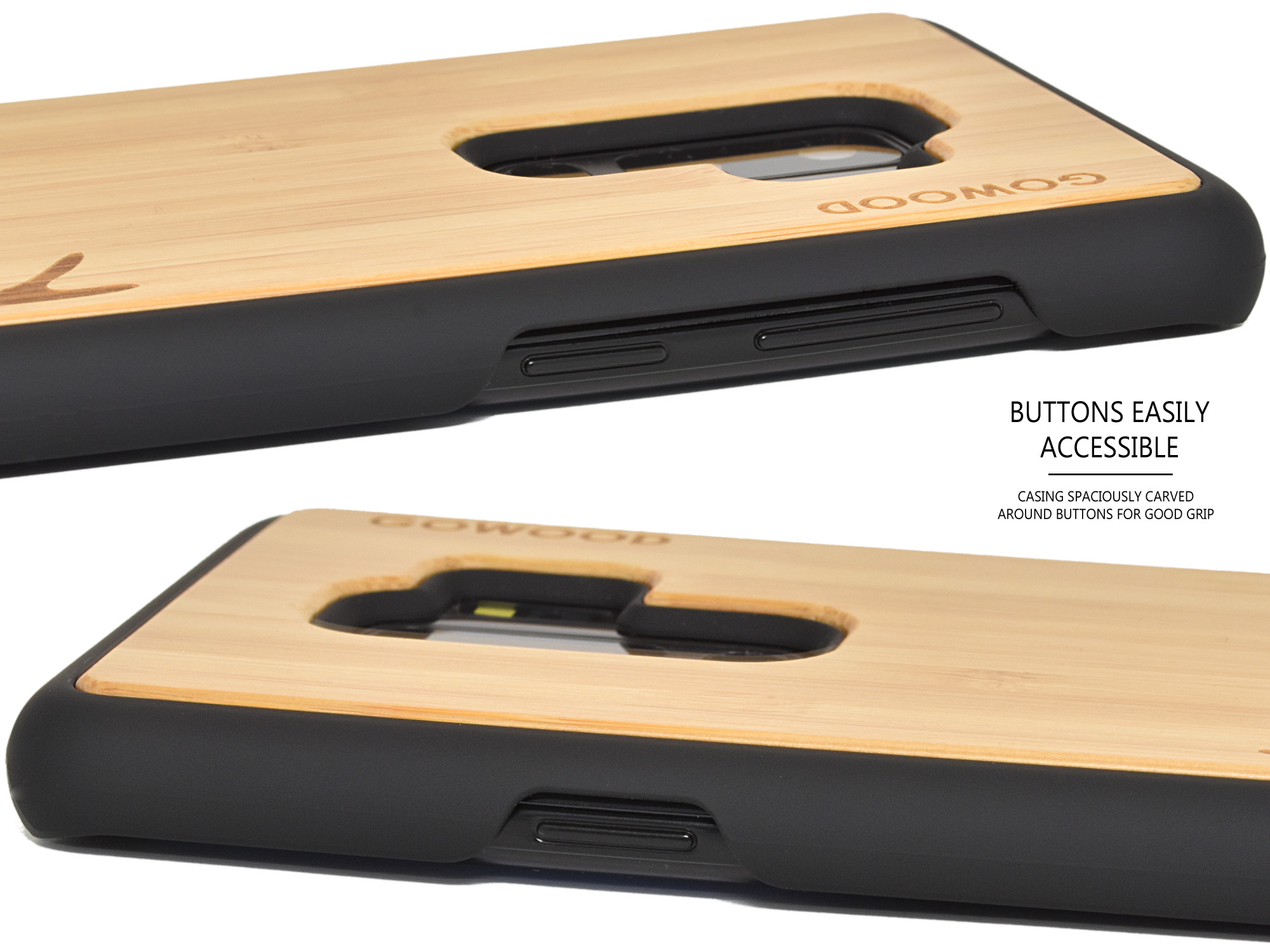 Samsung Galaxy S9 Plus wood case