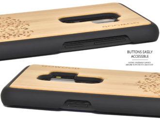 Samsung Galaxy S9 Plus wood case bamboo tree