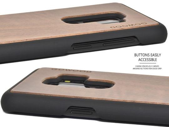 Samsung Galaxy S9 Plus wood case walnut