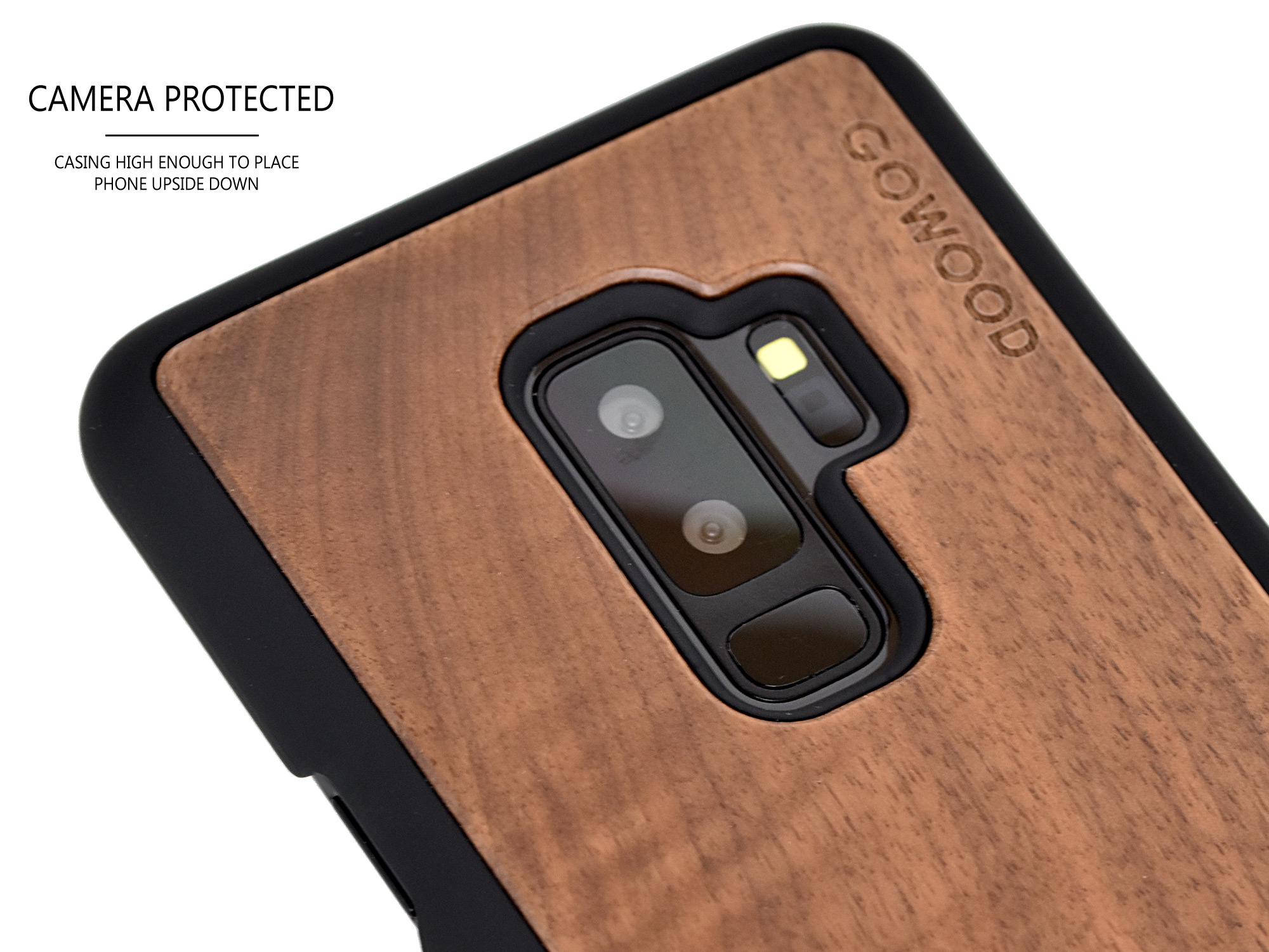 Samsung Galaxy S9 Plus wood case walnut
