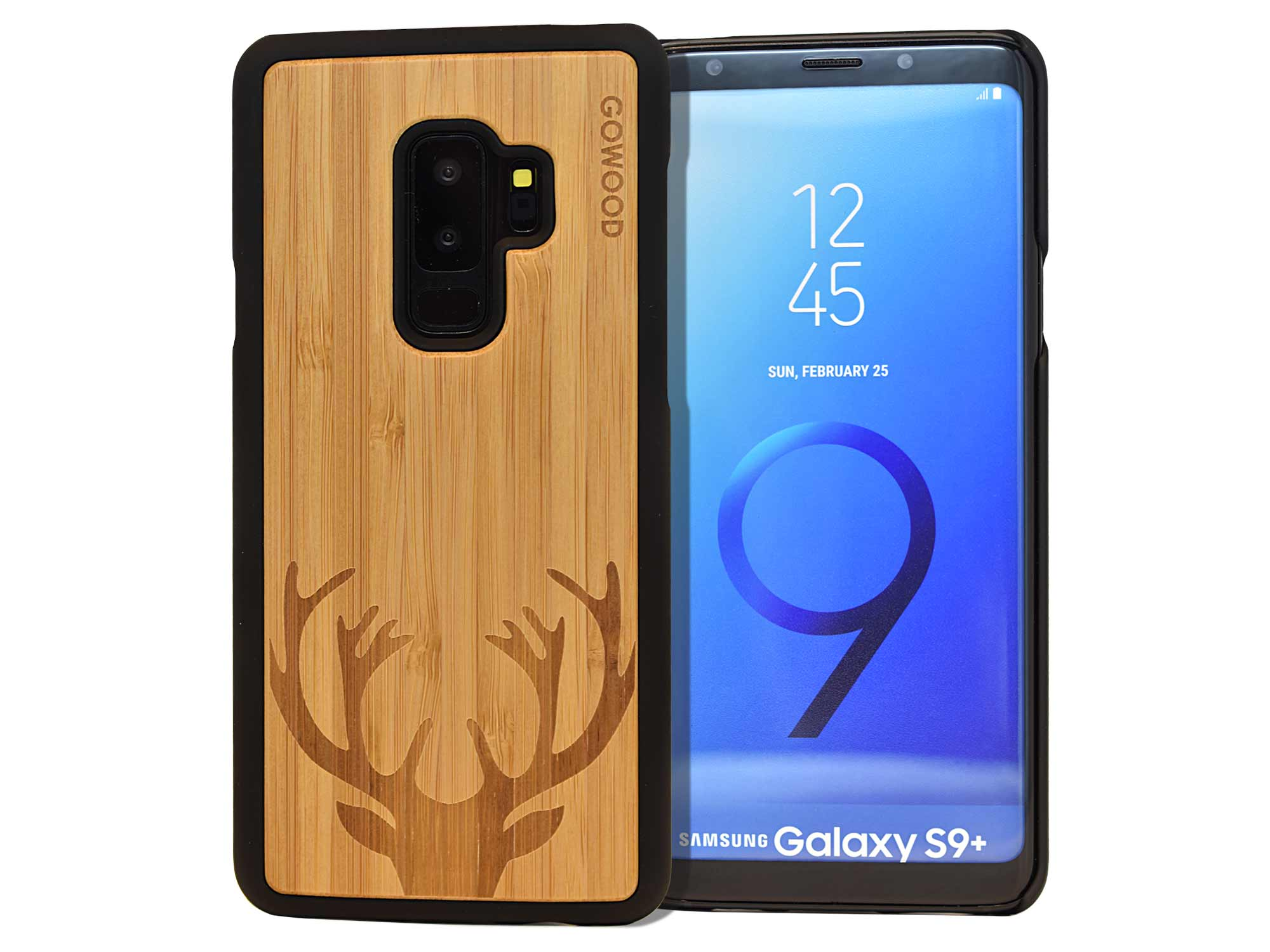 Samsung Galaxy S9 Plus wood case deer front