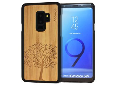 Samsung Galaxy S9 Plus wood case tree front