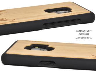 Samsung Galaxy S9 wood case bamboo deer