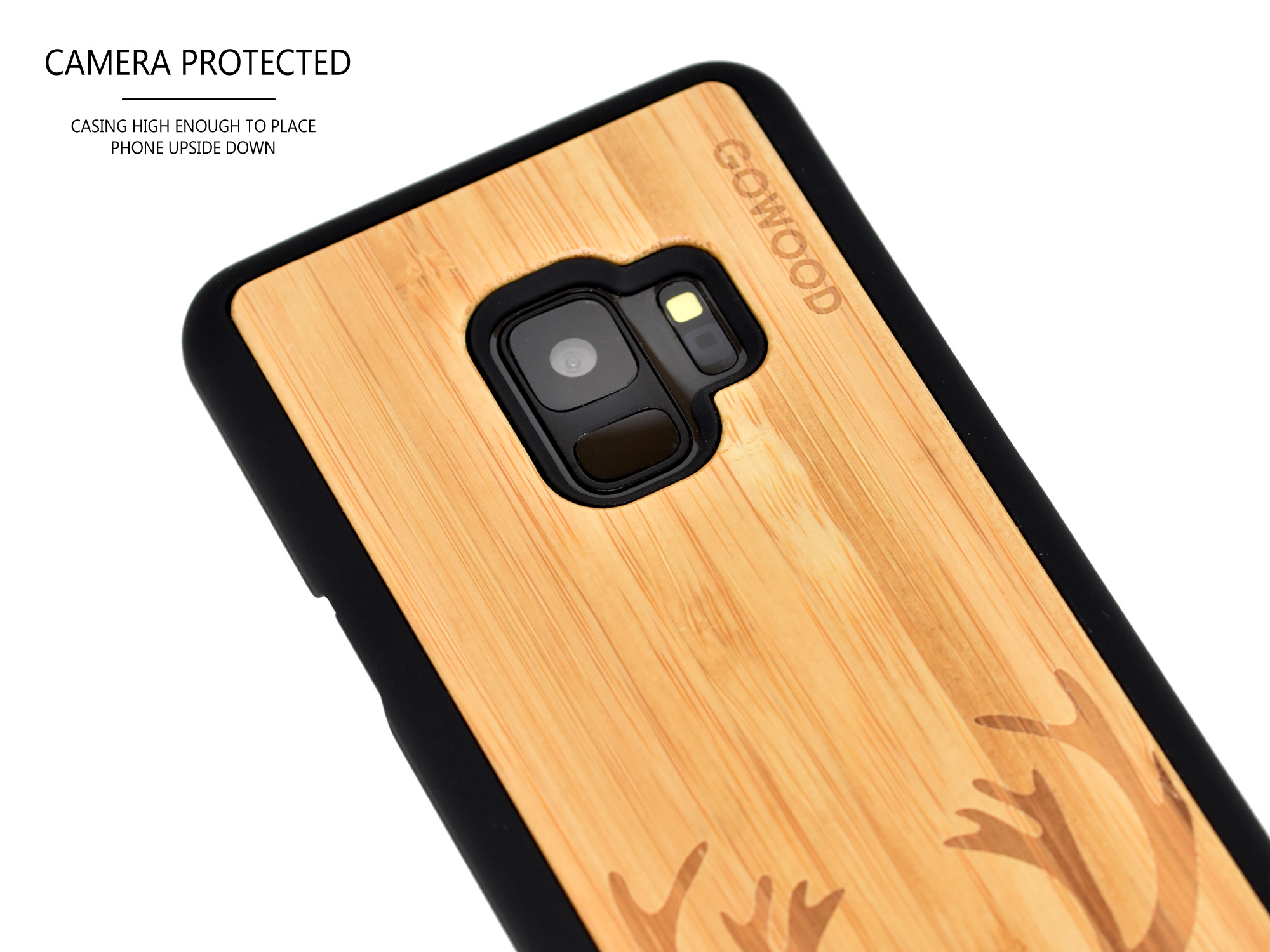 Samsung Galaxy S9 wood case bamboo deer