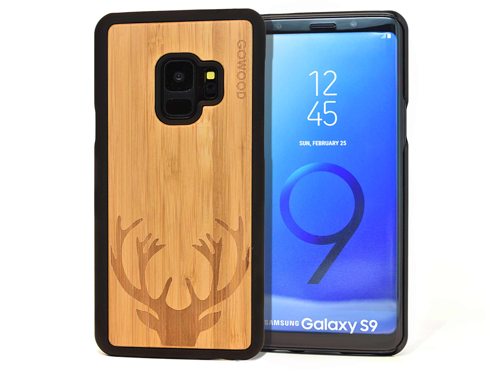 Samsung Galaxy S9 wood case deer front