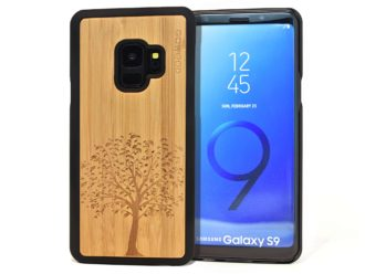 Samsung Galaxy S9 wood case tree front