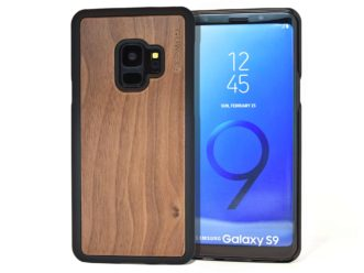 Samsung Galaxy S9 wood case walnut front