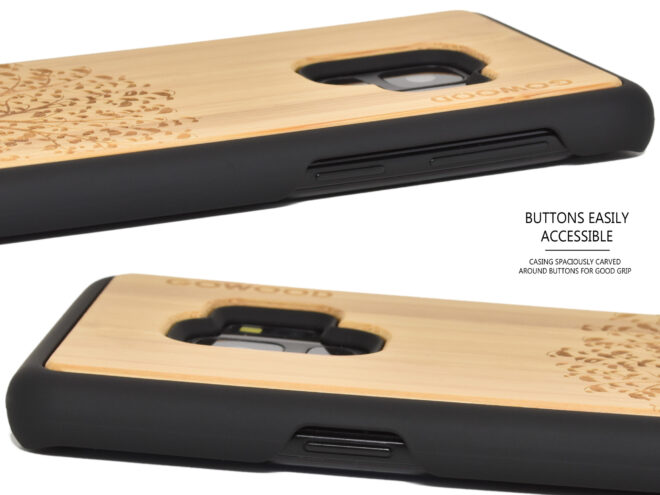 Samsung Galaxy S9 wood case bamboo tree